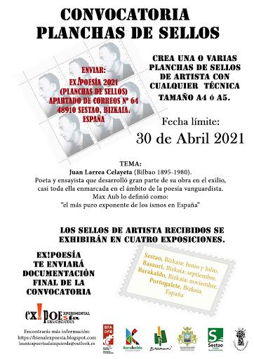 PLANCHA DE SELLOS. Tema: Juan Larrea