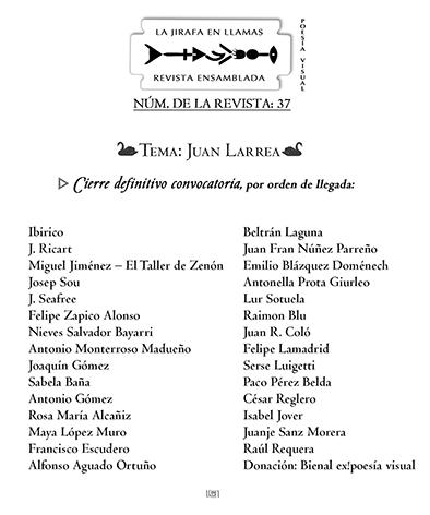 La Jirafa en llamas, nº 37. Especial Juan Larrea